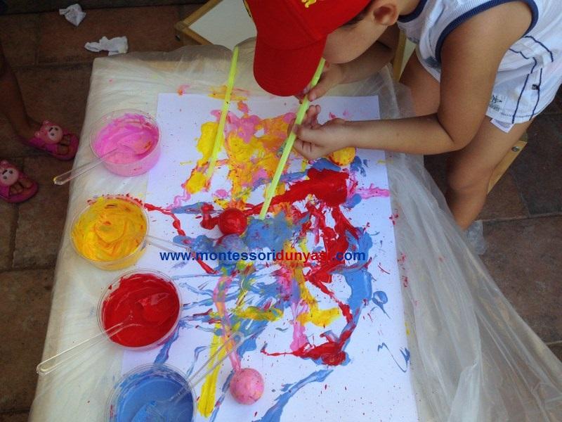 Pipetle Ufleyerek Resim Yapma Montessori Dunyasi
